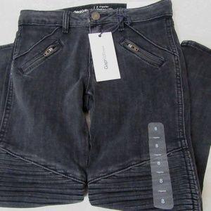 Gap Kids 8 Black Moto Legging Jeans Ankle Skinny